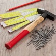 Carpenter equipment — Stockfoto