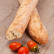 Baguette and tomatoes — Stock Photo #6954295