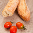 Baguette and tomatoes — Stock Photo #6954314
