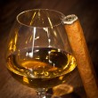 Whisky and cigars — Stock Photo
