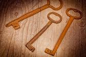 Old keys — Stockfoto
