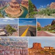West USA canyons and desert collage — Stock Photo