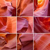 Antelope Canyon collage — Stock Photo