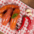 Raw italian sausage — Stock Photo