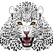Vector leopard executed in the form of a tattoo — Stock Vector