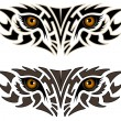 Stock Vector: Eyes of an animal, tribal tattoo
