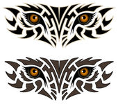 Eyes of an animal, tribal tattoo — Stock Vector