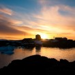 Summer sunset in Antarctica — Stock Photo
