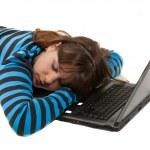 Woman fallen asleep — Stock Photo #7262488
