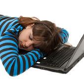 Mujer dormida — Foto de Stock