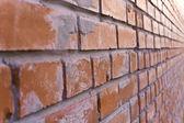 Bricklaying fragment — Stock Photo