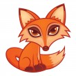 Cartoon Red Fox - Stock Vector