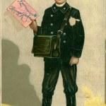 Vintage Christmas post card — Stock Photo