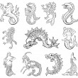 Vector de stock : Heraldic monsters vol VI