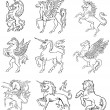 Royalty-Free Stock Vector Image: Heraldic monsters vol IX
