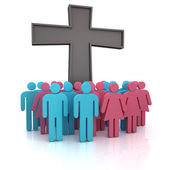 Church congregation — Stock Photo