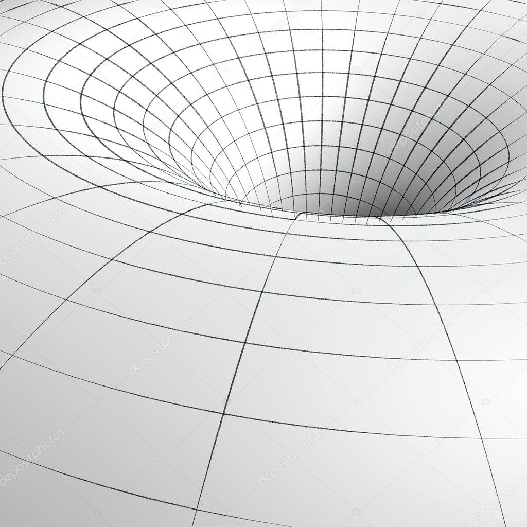 Sketch of a wireframe of abstract tunnel — Stock Photo #6892170