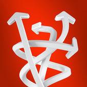 Las flechas del remolino — Foto de Stock