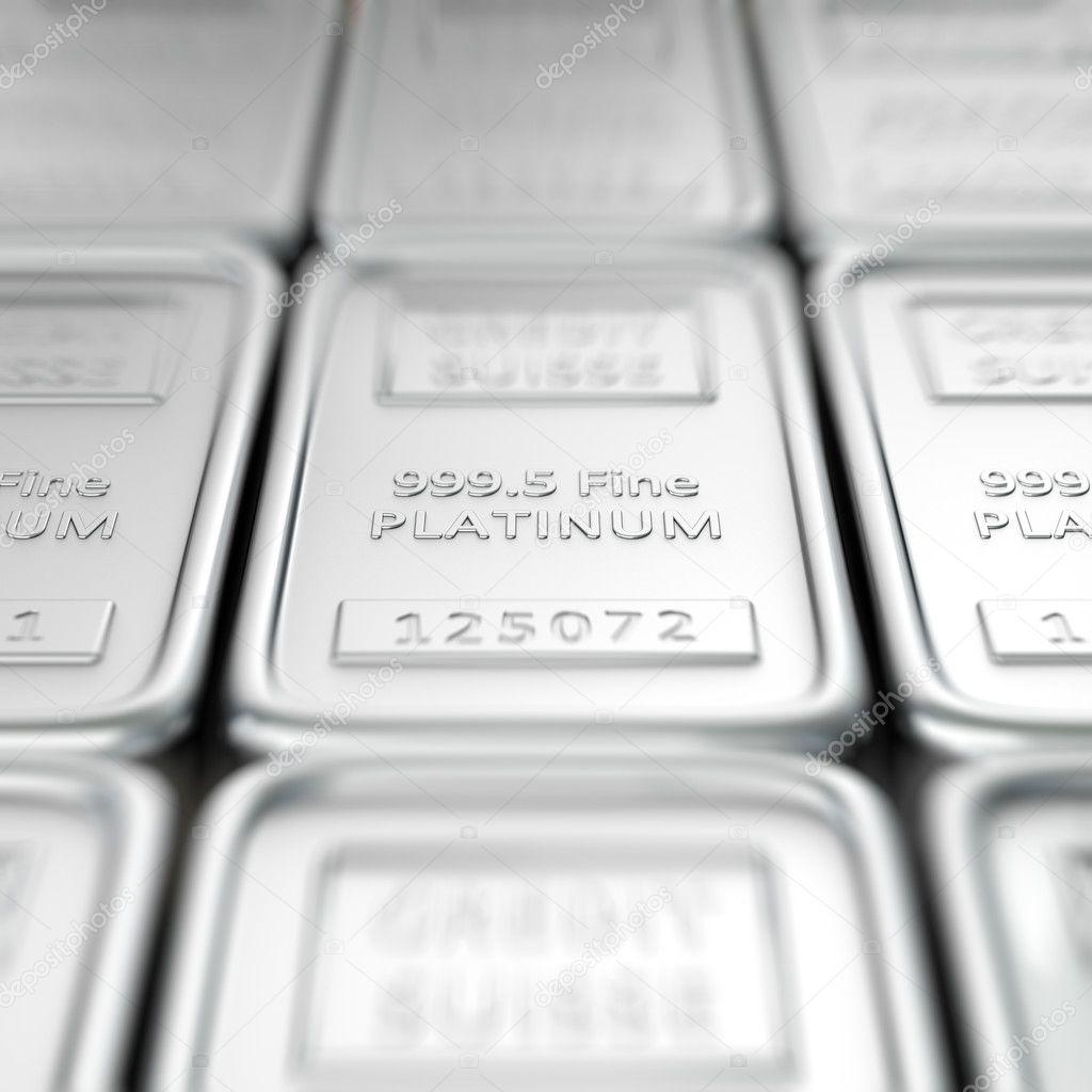 Platinum ingots — Stock Photo © timbrk #7306806