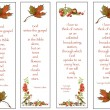 Four Bookmarks: Nature Theme: Hand-Drawn - Stock Photo