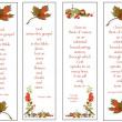 Stock Photo: Four Bookmarks: Nature Theme: Hand-Drawn