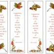 Four Bookmarks: Nature Theme: Hand-Drawn — Stock Photo