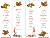 Four Bookmarks: Nature Theme: Hand-Drawn — Foto Stock