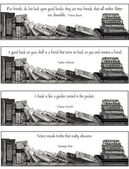 Bookmarks: Pencil Drawing with Quotes For Book Lovers — Stock Photo