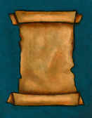 Pastel Painting of Old Scroll on Deep Blue Background — Stock Photo