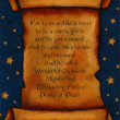 Постер, плакат: Painting of Sroll With Bible Verse And Starry Background