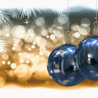 Christmas balls background - Foto Stock