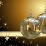 Christmas balls background — Stock Photo #7379652