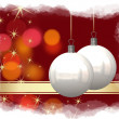 Christmas balls background — Stock Photo #7379836