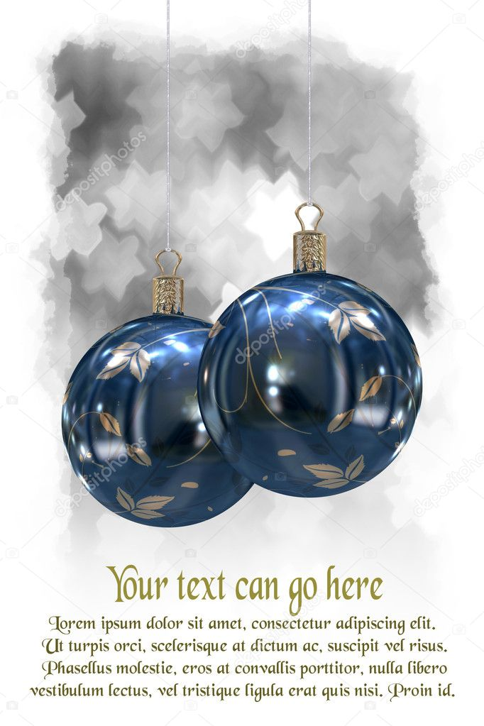 3d Christmas balls background  Stock Photo #7379157
