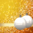 Christmas balls background — Stock Photo #7380112
