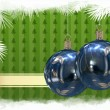 Christmas balls background — Foto Stock