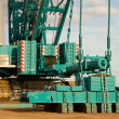 Stock Photo: Lower part of large crane