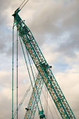 Part of a huge mobile crane — Stock Photo