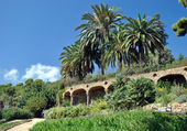 Barcelona Gaudi's Guell park — Stock Photo