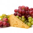 Perfect bunch of grapes and cheese — Stock Photo #7011483
