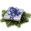 Stock Photo: Silver gift box