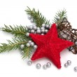 Christmas decoration isolated on white background - 图库照片