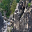 German National Park Sachsische Schweiz. Bastei bridge elements. — Stock Photo