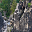 Stock Photo: German National Park Sachsische Schweiz. Bastei bridge elements.