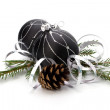 Christmas decoration isolated on white background - Foto Stock