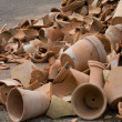 Stockfoto: Broken pots