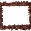 Chocolate frame isolated on white background - Stock Photo