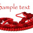 Red beads isolated on white background — Stock Photo #7017821