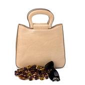 Luxury female handbag isolated on white background — Stock Photo