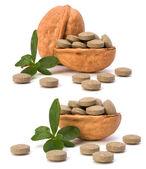 Herbal pills — Stock Photo
